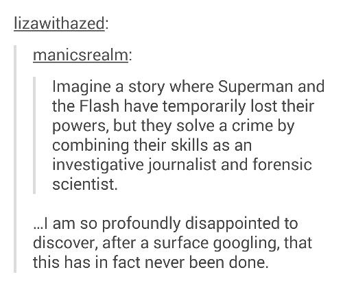 Yooooo this is a great idea for a story with original characters too!
