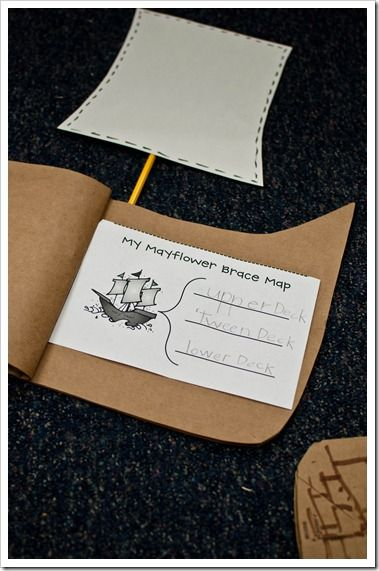 Mayflower fact book instructions and #freebie from The First Grade Parade