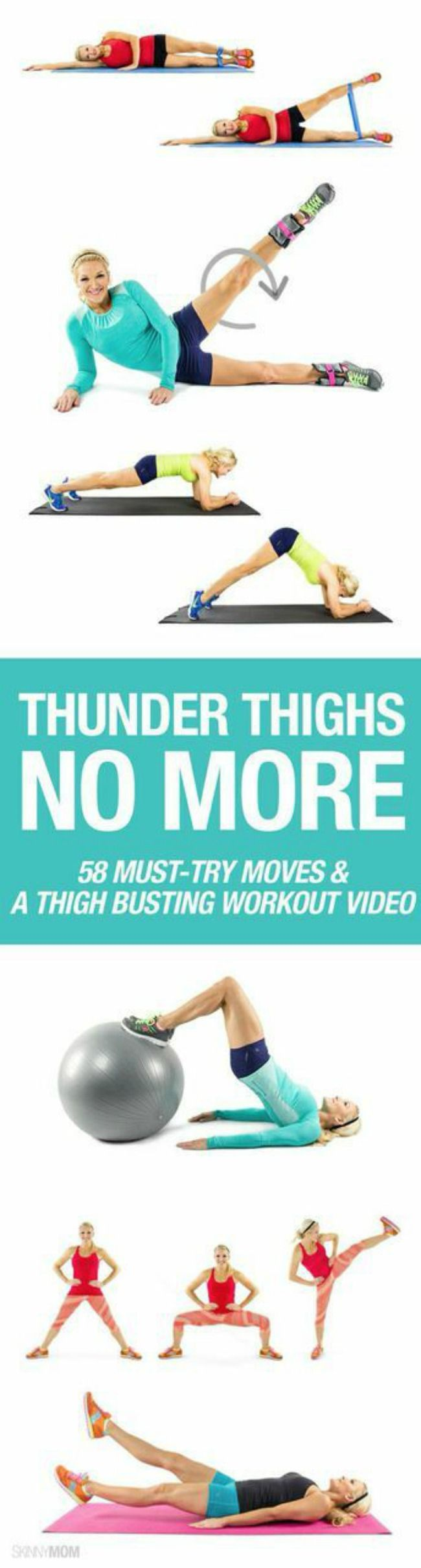 58 Must-Try Moves & A Thigh Busting Workout Video #thighsslimming #thighgap #exercises #fitness