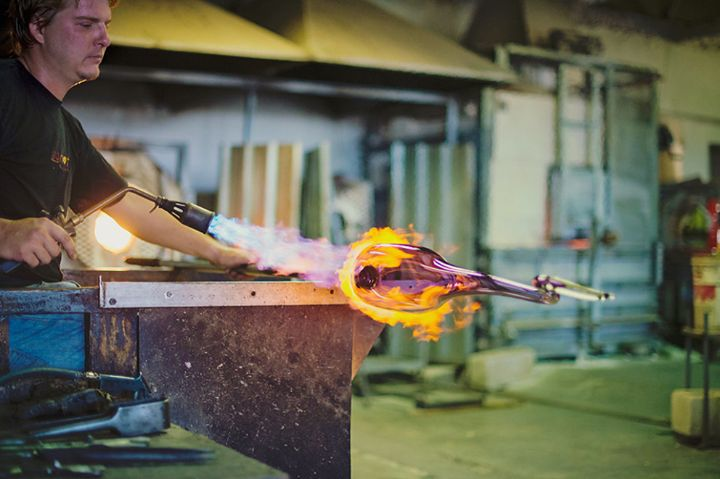 We're fired up and ready for another week at the destination! #RedHOTGlass #HandBlown #SpiceRoutePaarl #GlassBlowing #Art
