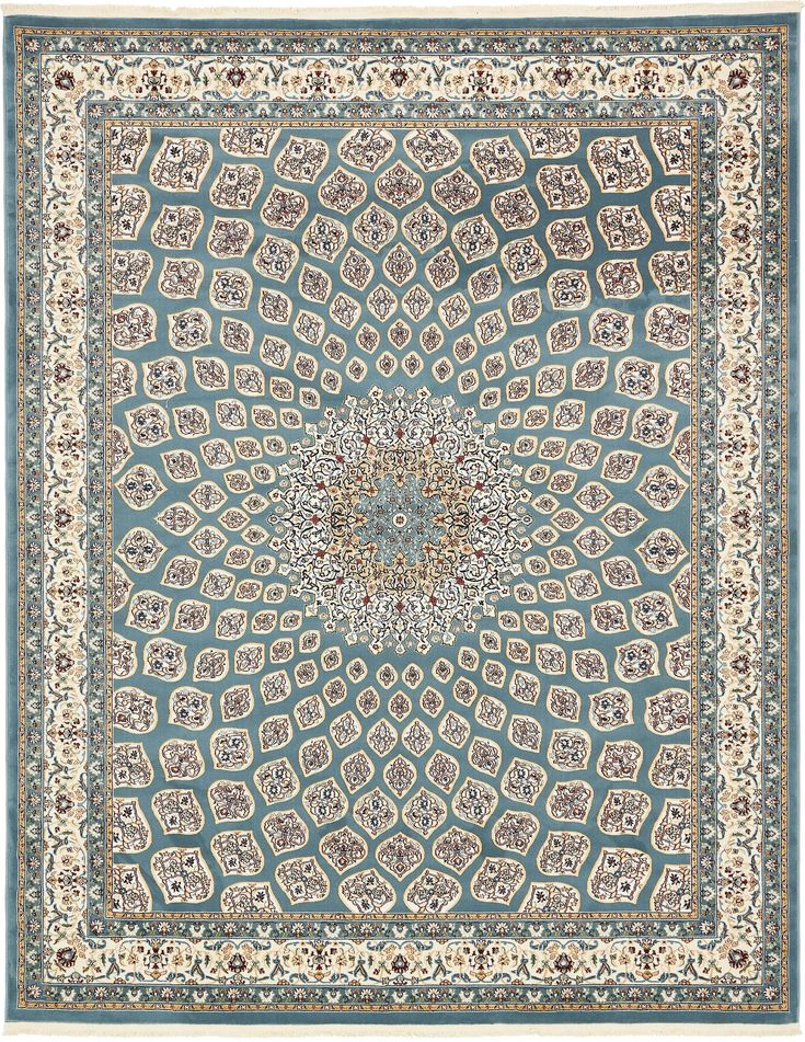 Blue 8' x 10' Nain Design Rug | Area Rugs | iRugs UK