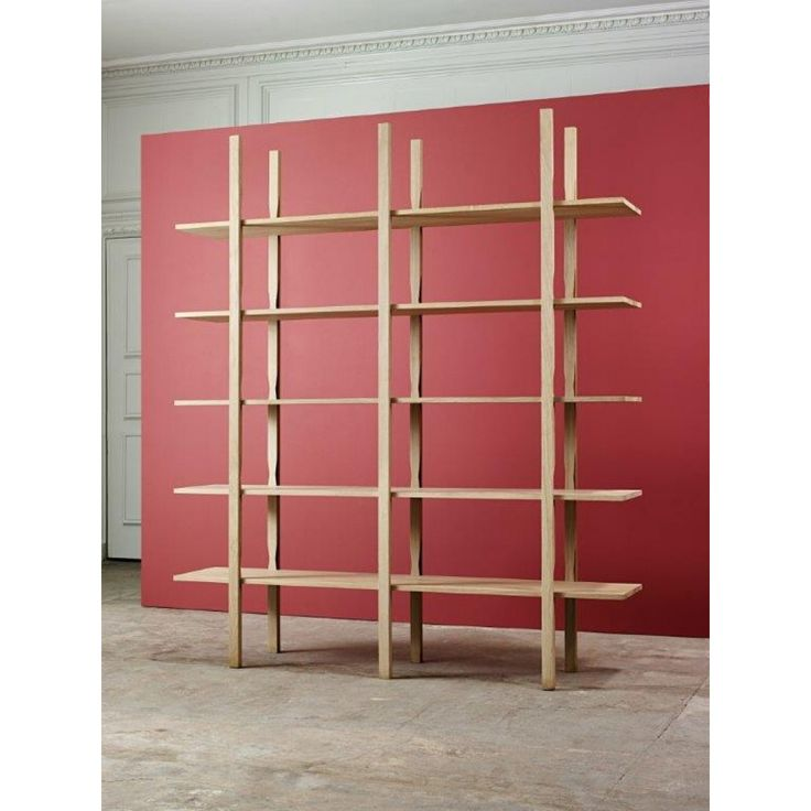 Natual Wooden Attached Cookbook Shelf That Seems Elegant By Applying Red  Wall Color Can Add The