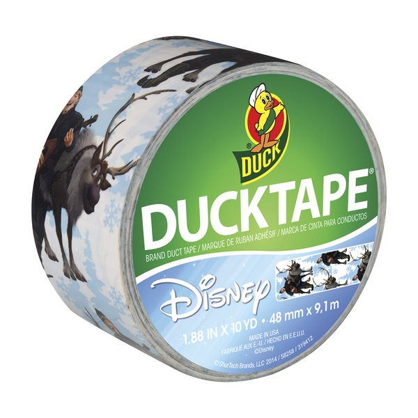 "Disney-Licensed Duck Tape® – ""Frozen,"" featuring Kristoff and Sven http://duckbrand.com/products/duck-tape/licensed/characters-brands/frozen-kristoff-and-sven-188-in-x-10-yd?utm_campaign=color-duck-tape-general&utm_medium=social&utm_source=pinterest.com&utm_content=printed-duct-tape"