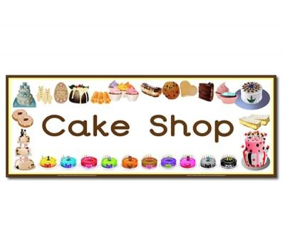 'Cake Shop' Display Heading/ Classroom Banner