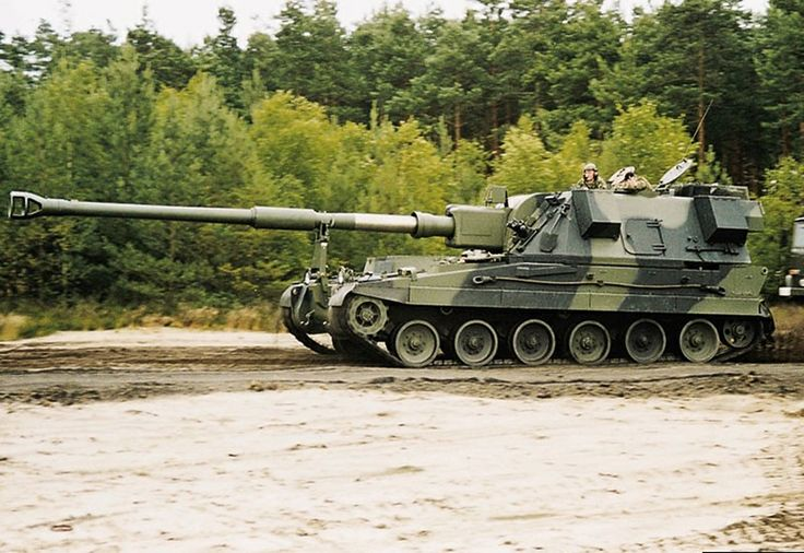 The AS-90 Braveheart  is a lightly armoured self-propelled artillery piece used by the British Army.  The AS-90 was first deployed by the British Army in 1993.[1] 179 AS-90s were acquired to re-equip six of the eight self-propelled field artillery regiments (each 24 guns) in the 1 (BR) Corps, replacing the 105 mm FV433 Abbot SPG and older M109 155 mm Self Propelled Gun. It remains in UK service and will equip three field regiments supporting armoured infantry brigades for the foreseeable…