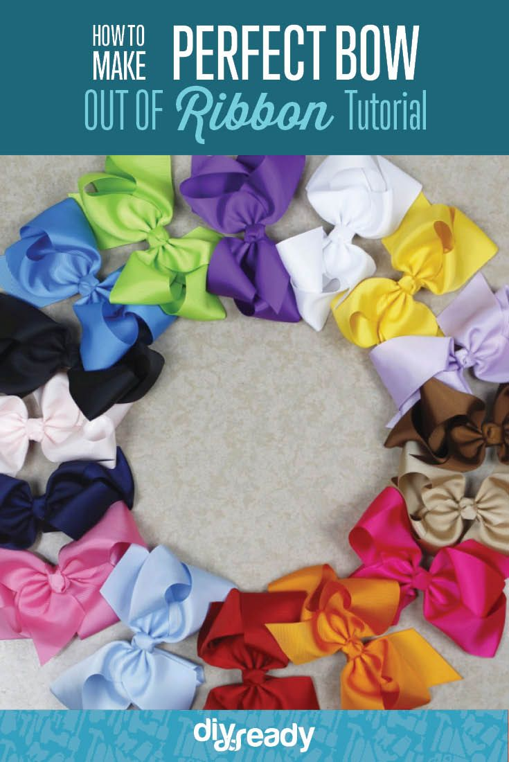 How to Make a Bow Out of Ribbon [Video Tutorial] | Easy Crafts for Adults and Kids by DIY Ready at http://diyready.com/how-to-make-a-bow/