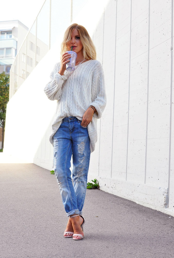 winter white - relaxed day look