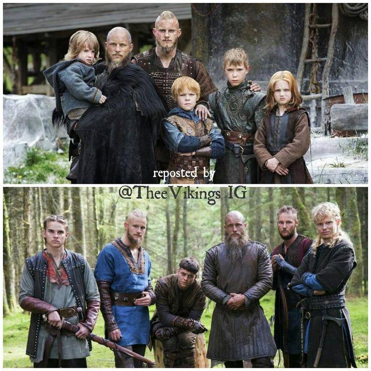 Vikings (Before and After) - Ragnar, Bjorn Ironside, Ubbe, Hvitserk, Siggurd Snake in the Eye and Ivar the Boneless