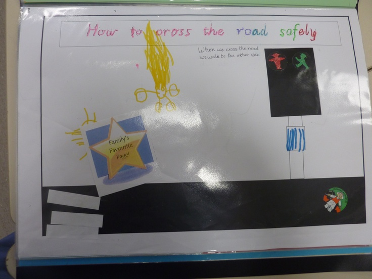 Simple road safety picture done in my Kindy class