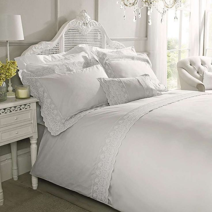 Holly Willoughby Aimee Silver Bed Linen Collection   Dunelm
