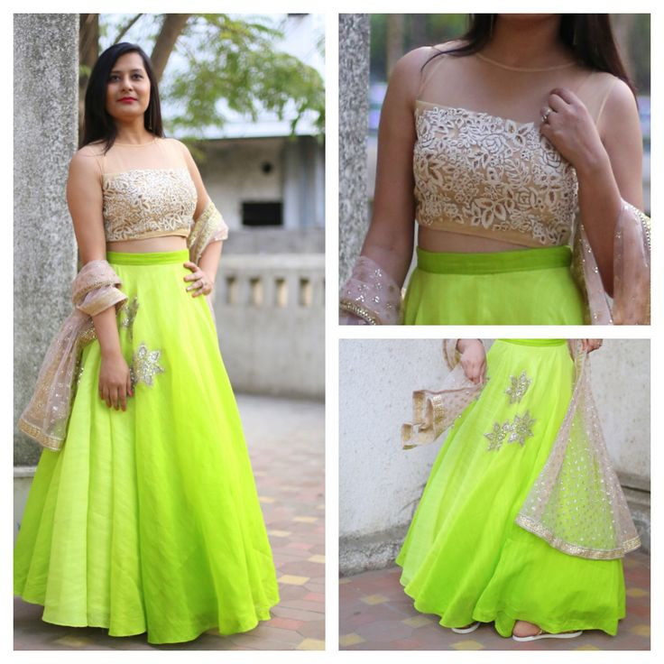 #palanquine#limegreen#parsi Emb #fashionblogger#nehasharma07