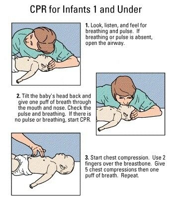Safety first, baby CPR.