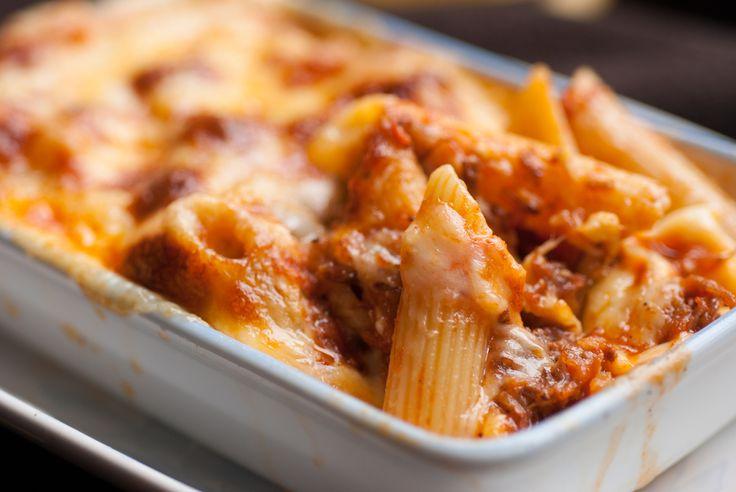 Recette de Gratin de macaronis, mozzarella et boulettes de boeuf. Facile et rapide à réaliser, goûteuse et diététique.