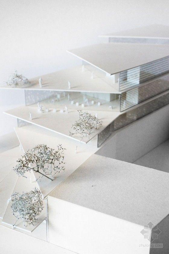 architectural model - filigree clad arnhem ArtA cultural center by kengo kuma