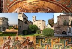 Ravenna was the capital of the Roman Empire for 150 years and the seat of Byzantine power in Italy for two centuries more. The city has eight UNESCO World Cultural Heritage Sites of early Christian monuments and Late Antiquity mosaics.