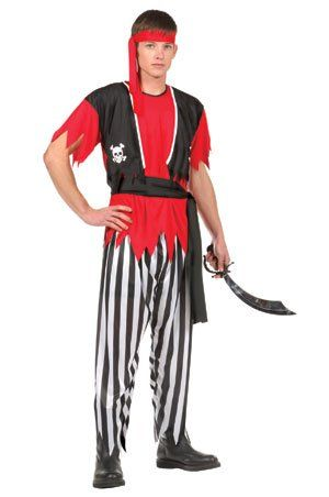 Pirate Top and Pants Teen Costume Size 1618 >>> Want additional info? Click on the image.