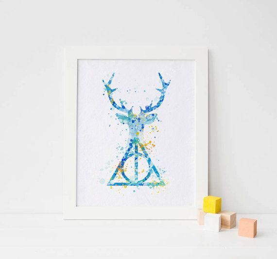 Harry Potter print Expecto Patronum Deer Patronus by ArtQuality