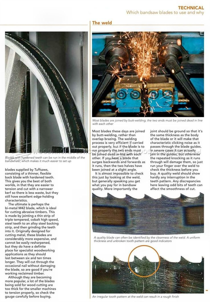 best band saw blades for wood. #196 which band saw blades to use and why - best for wood