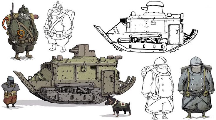 A arte do game Valiant Hearts, da Ubisoft