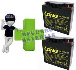 Kit de baterias de reemplazo para sillas de ruedas electricas Long en 12 Voltios 18 Amperios WP18-12