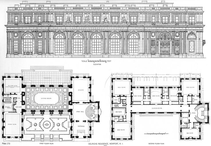 Rosecliff rosecliff weddings pinterest rhode island for Mansion floor plans with ballroom