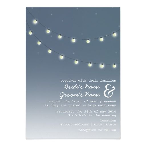 Light Bulbs Evening Wedding Invitation   Click on photo to purchase. Check out all current coupon offers and save! http://www.zazzle.com/coupons?rf=238785193994622463&tc=pin