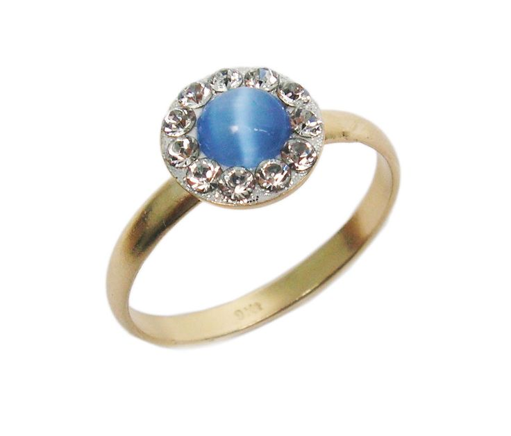 Gold ring. Cat's eye ring. Unique ring, blue crystal ring, romantic ring, stackable ring, gold jewelry, gift for her. by STarLighTstudiO3 on Etsy https://www.etsy.com/listing/173144793/gold-ring-cats-eye-ring-unique-ring-blue