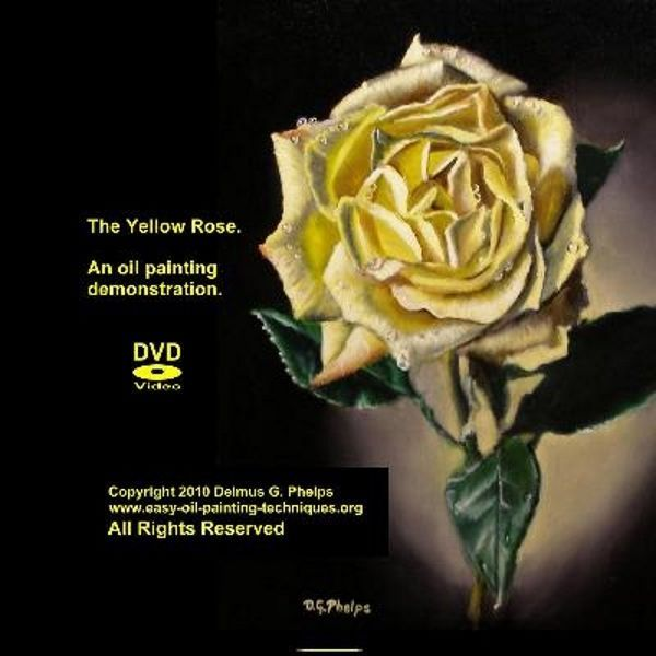 How to oil paint a rose, realistic oil painting techniques, 2hr DVD art lesson