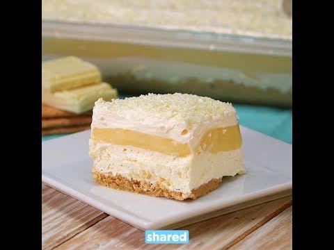 Mon gâteau à la vanille et chocolat blanc sans cuisson fait toujours bonne impression - Ma Fourchette