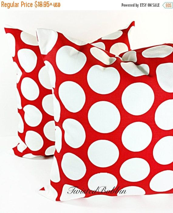 SALE PILLOW. Red Pillow  pillows red and  by TwistedBobbinDesigns