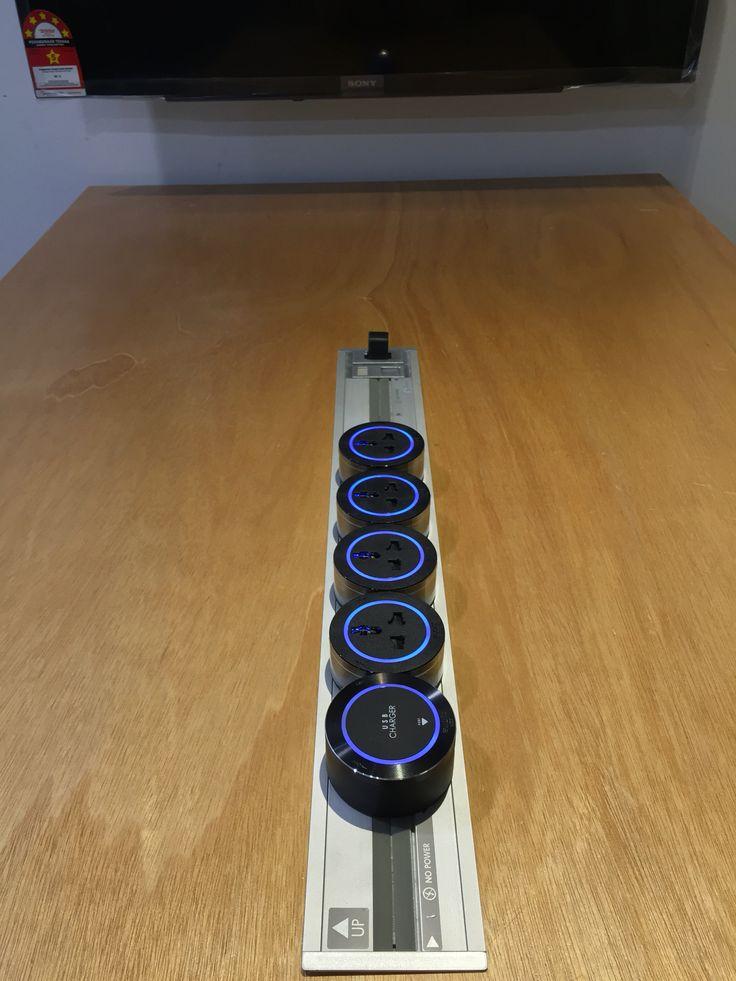 Eubiq Recess Socket Power Track With Premium Universal