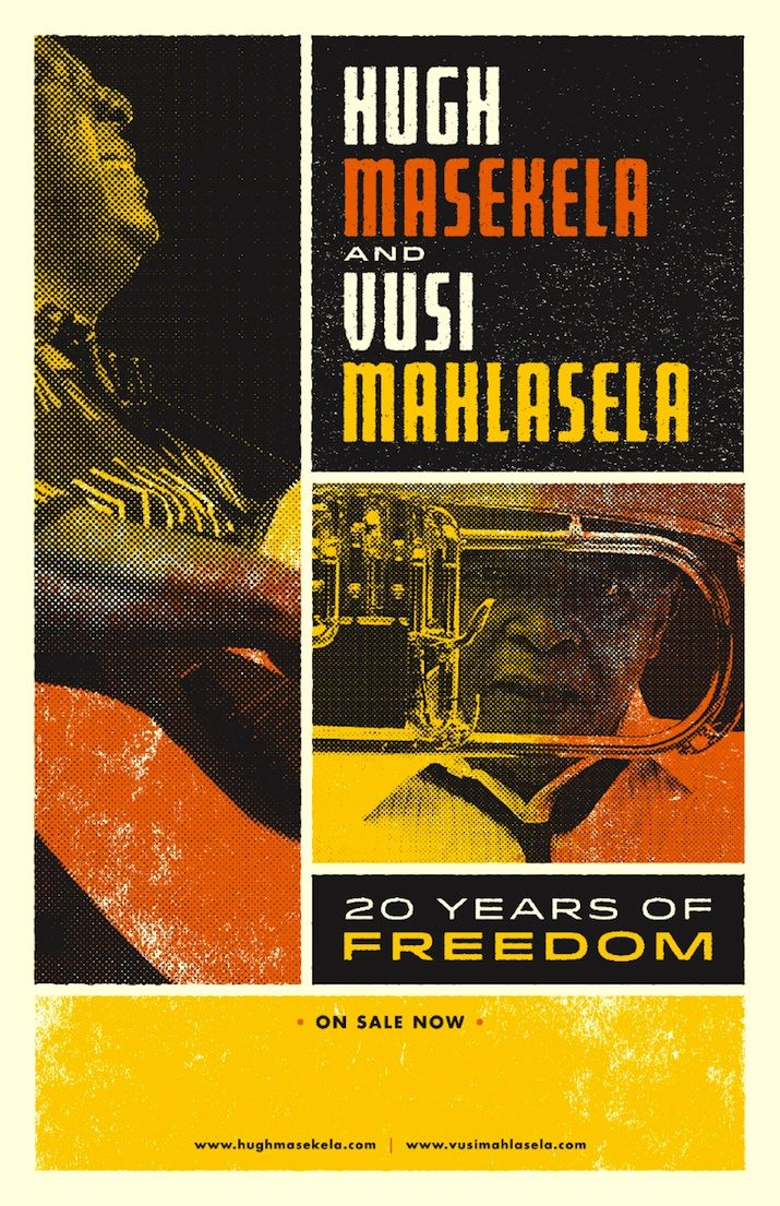 To honor South African democracy, SA music legends Hugh Masekela and Vusi Mahlesela will go on a North American tour in February-March 2015.