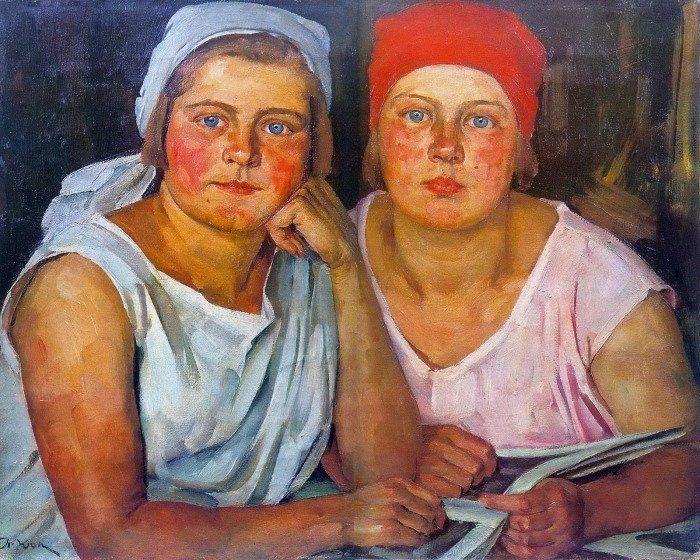 Константин Юон. «Комсомолки». 1926 г.