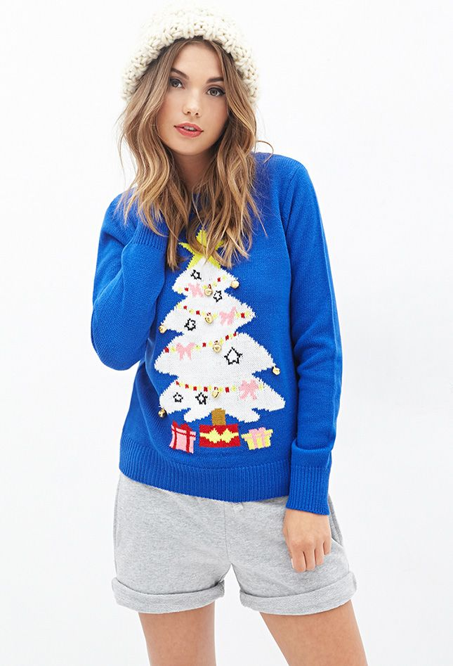 This tacky holiday sweater is so good.