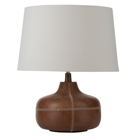 Serious Table Lamp For Real Living Tan