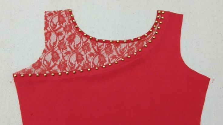 Beautiful net neckline cutting & stitching -Rup Fashion point