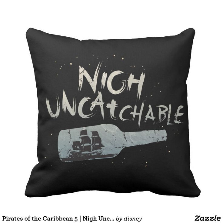 Pirates of the Caribbean 5 | Nigh Uncatchable. Customizable product available in Zazzle store. Producto personalizable disponible en tienda Zazzle. #cojín #pillow