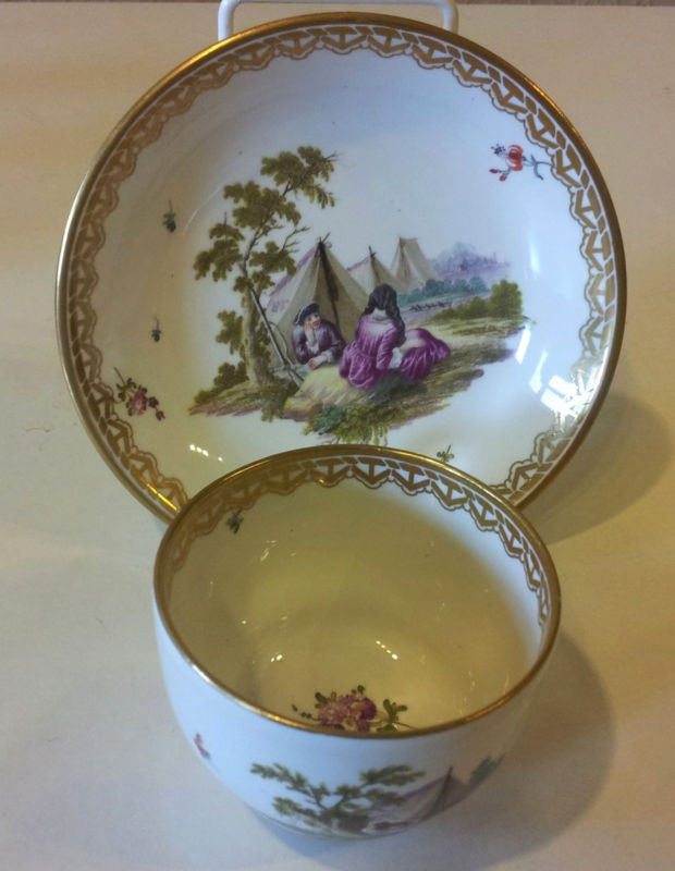 Hand Painted Frankenthal Cup and Saucer CIRCA 1780 | eBay: