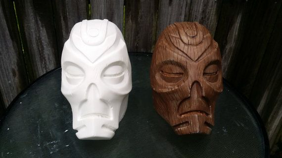 Skyrim Dragon Priest mask Raw cast by CrimsonProps on Etsy