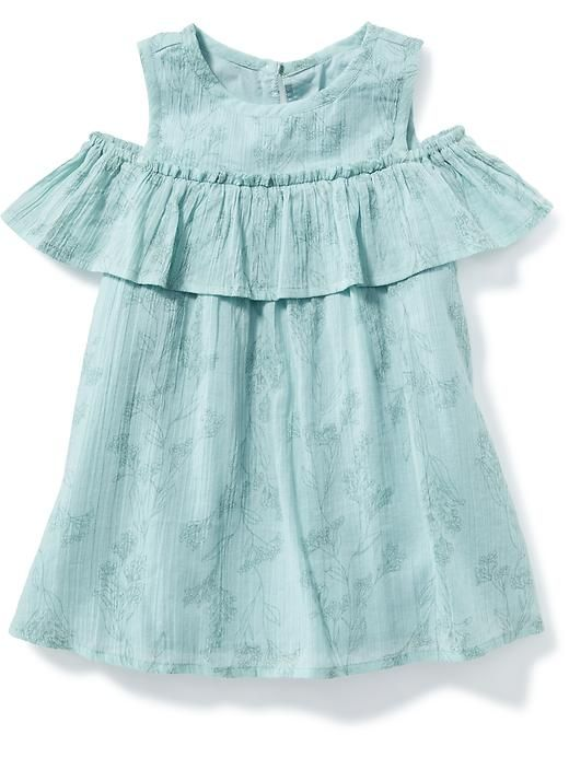 off the shoulder ruffle dress for baby.