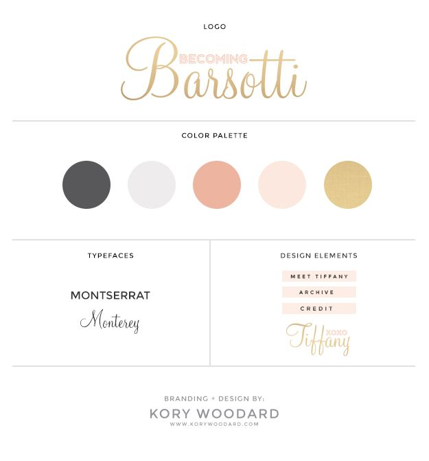 becoming barsotti / branding   blog design by kory woodard