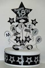 black white purple birthday cake - Google Search
