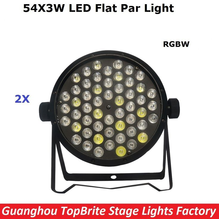 (76.00$)  Buy here  - 2XLot High Quality Led Par Cans 54X3W RGBW Led Flat Par Lights For Professional Stage Dj Disco Laser Lights Free Shipping