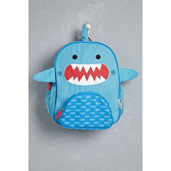 Forever21 Zoocchini Sherman the Shark Backpack ($28) ❤ liked on Polyvore featuring bags, backpacks, blue, forever 21 bags, mesh zip bag, mesh zipper bag, mesh backpack and rucksack bags