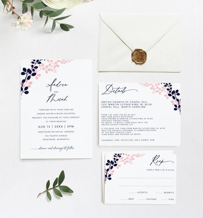 This Beautiful Wedding Invitation Template Set Features A Simple Entwined Vines Wedding Invitation Templates Beautiful Wedding Invitations Wedding Invitations