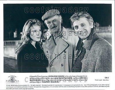 1991 Gene Hackman Geraldine Danon M Baryshnikov Company Business Press Photo