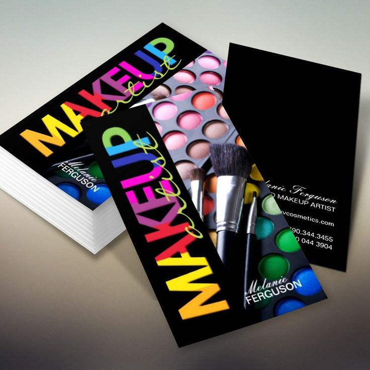 cards created by Colourful Designs Inc. : Makeup Artist Business Cards ...