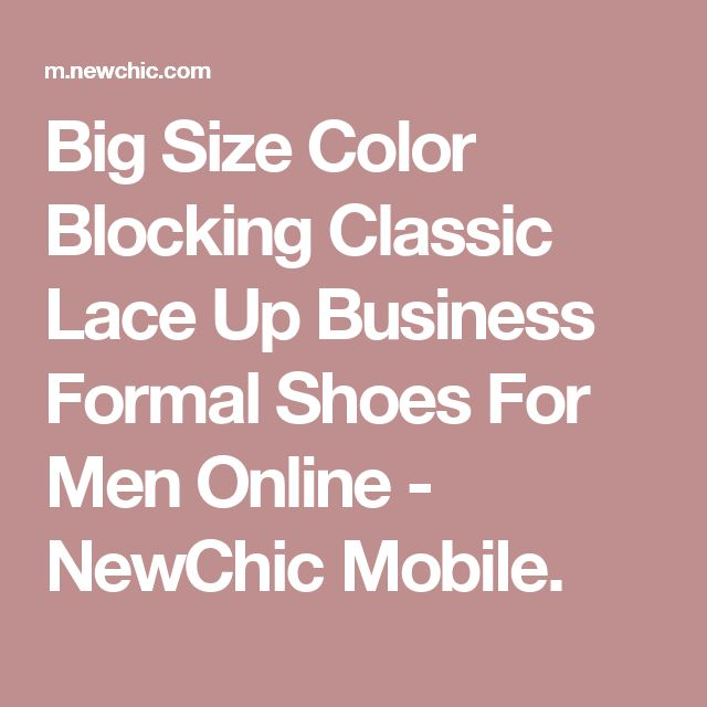 Big Size Color Blocking Classic Lace Up Business Formal Shoes For Men Online - NewChic Mobile.