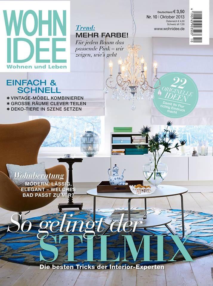 Die neue WOHNIDEE steht heute für Euch bereit. In der Oktober 2013 Ausgabe gibt's die besten Tricks zum Stilmix, die richtige Kombination von Vintage-Möbeln und vieles mehr zu entdecken...