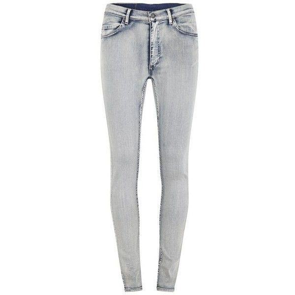 Cheap Monday Women's Second Skin Super Stretch High Rise Skinny Jeans... ($59) ❤ liked on Polyvore featuring jeans, pants, bottoms, calças, blue, blue jeans, stretch skinny jeans, skinny jeans, skinny leg jeans and stretch jeans